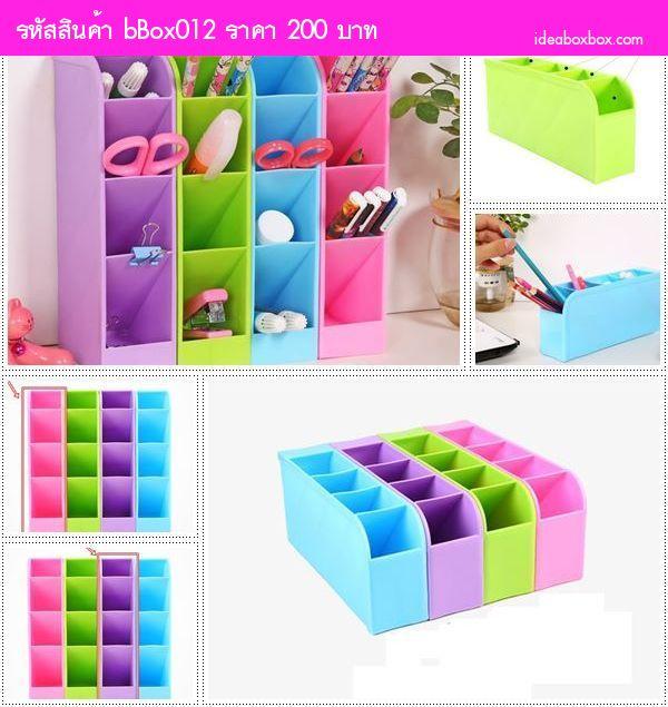 กล่องใส่ของอเนกประสงค์ Colorful 4 สี(เซต 4 ตัว)