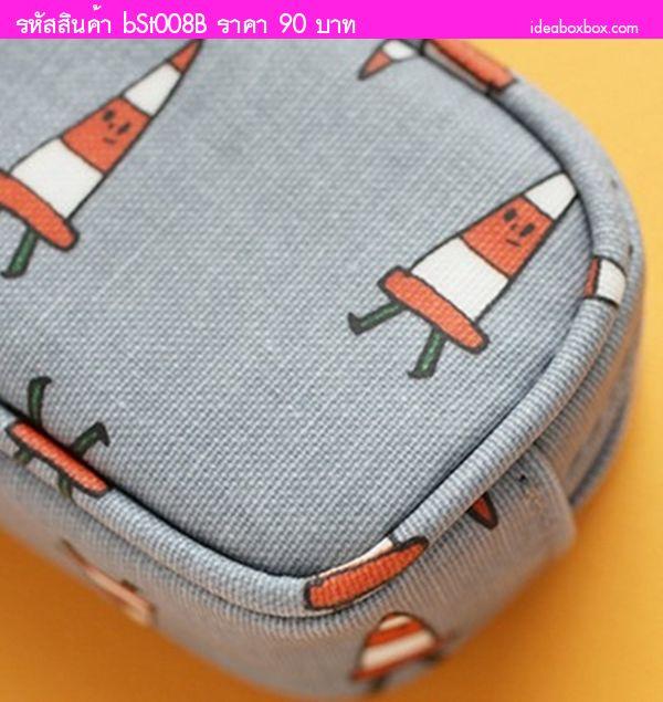 กระเป๋าใส่ดินสอ Multi Functional Stationery สีเทา