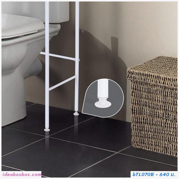 ชั้นวางของครอบโถสุขภัณฑ์ 3 ชั้น Toilet Racks สีดำ