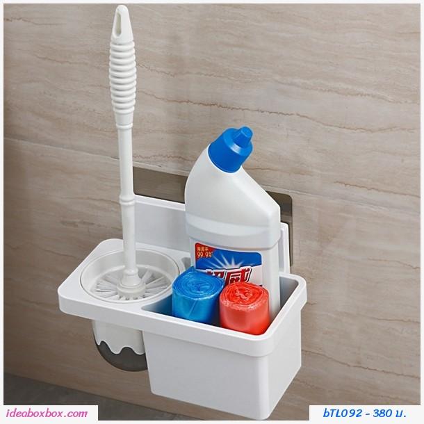 ที่วางแปรงทำความสะอาด+แปรง Brush toilet hanging