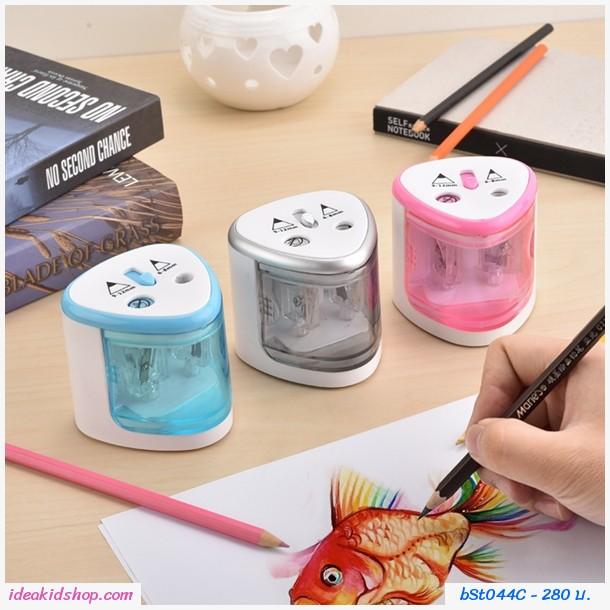 กบเหลาดินสอไฟฟ้า  Electric Pencil Sharpener สีชมพู