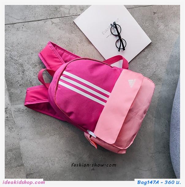 กระเป๋าสะพายหลัง Ad สีชมพู