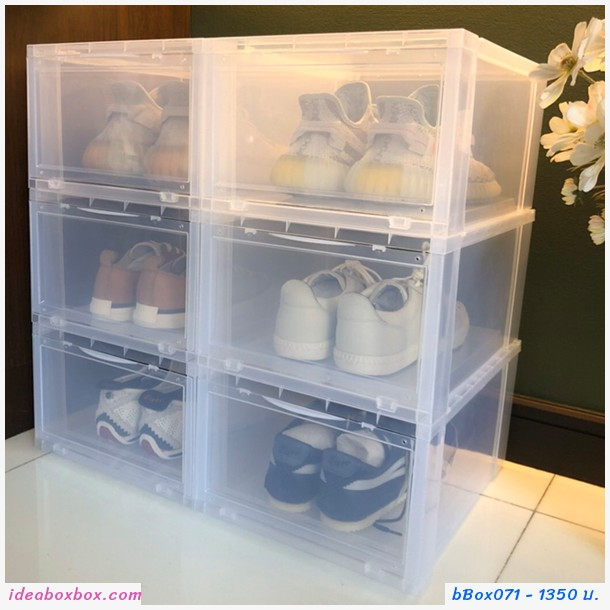 กล่องใส่รองเท้าและของใช้ SHOE BOX สีขาว(6 ชิ้น)