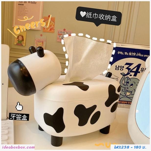 กล่องใส่กระดาษทิชชู่+ไม้จิ้มฟัน ลูกวัวน้อย