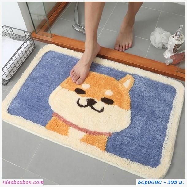 พรมเช็ดเท้า Microfiber ลายหมา Akita