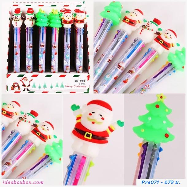 [pre]ปากกาเจลลูกลื่น ธีมคริสมาส 6 สี(36 แท่ง)