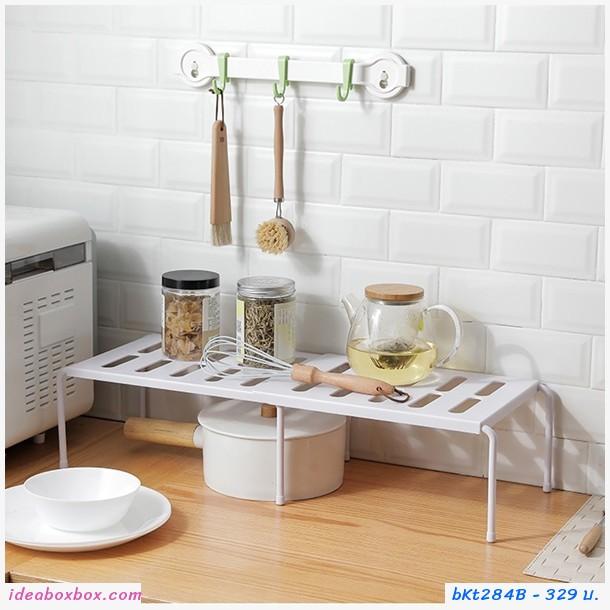 ชั้นวางของ storage rack ขยายข้าง สีขาว