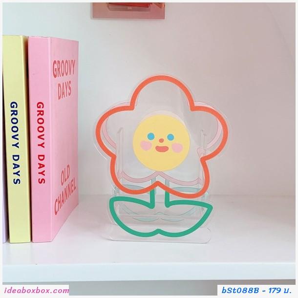 กล่องใส่ปากกา ดอกไม้แจกัน Acrylic แบบดอกไม้ B