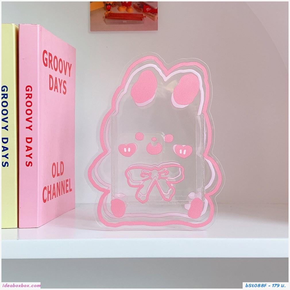 กล่องใส่ปากกา ดอกไม้แจกัน Acrylic แบบBow Bunny F